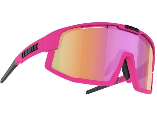 Bliz Vision Glasses matt neon pink/brown with purple multi